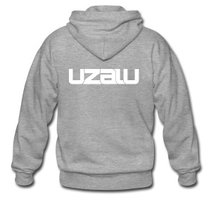 uzalu - White - Men's Premium Hooded Jacket