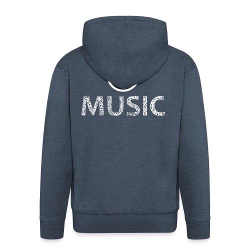 logo bashk music e bardhe - Men's Premium Hooded Jacket