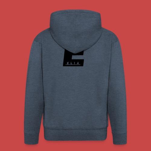 Elia Logo - Schwarz - Männer Premium Kapuzenjacke