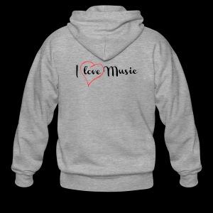 I Love Music - Chaqueta con capucha premium hombre