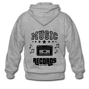 TKHKI MUSIC RECORDS - Miesten premium vetoketjullinen huppari