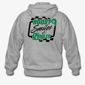 Boost Smiles & Quarter Miles Green & Black Print - Men's Premium Hooded Jacket