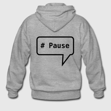 Sprechblase # Pause - Männer Premium Kapuzenjacke