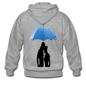 Love under the umbrella - Mannenjack Premium met capuchon