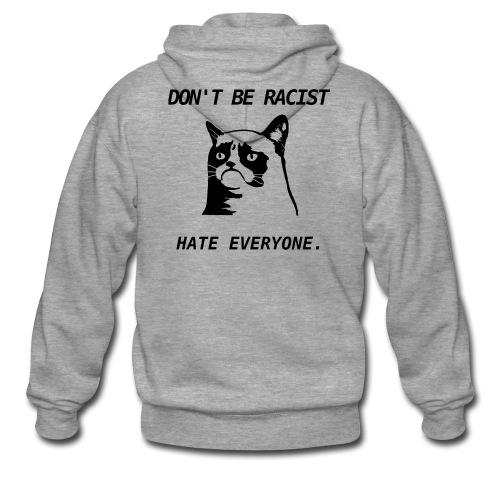Grumpy Cat T-Shirt - Men's Premium Hooded Jacket