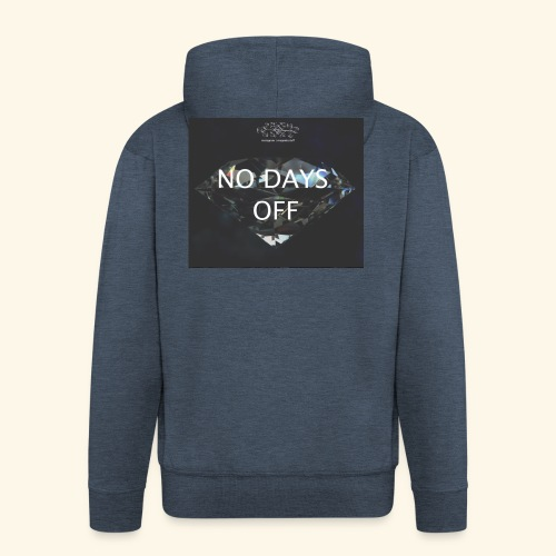 No Days Off - Felpa con zip Premium da uomo
