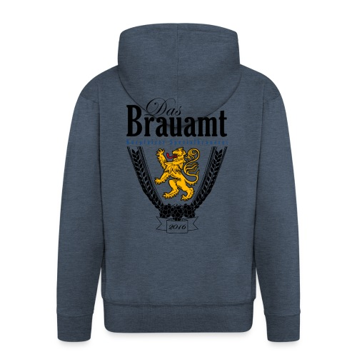 Brauamt Logo schwarz - Männer Premium Kapuzenjacke
