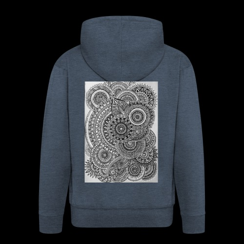 Chaos and Symmetry // - Men's Premium Hooded Jacket