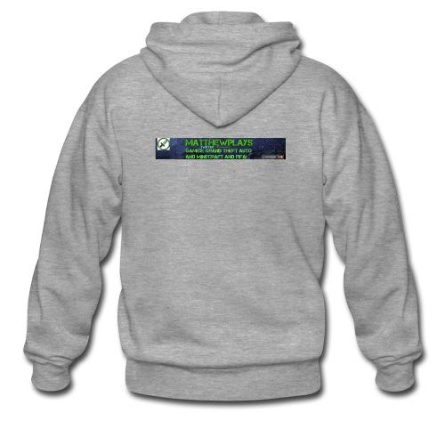 White YouTube Banner Tee - Men's Premium Hooded Jacket