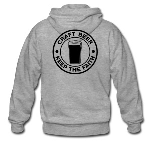 Craft beer, keep the faith! - Men's Premium Hooded Jacket