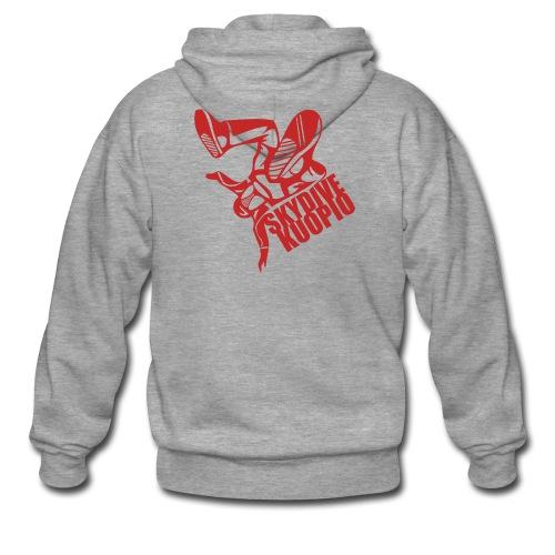 KLU logo red - Miesten premium vetoketjullinen huppari