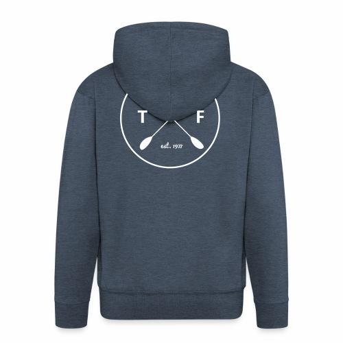 TWF Weiss - Männer Premium Kapuzenjacke