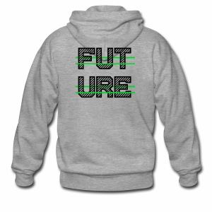 Future Clothing - Green Strips (Black Text) - Men's Premium Hooded Jacket