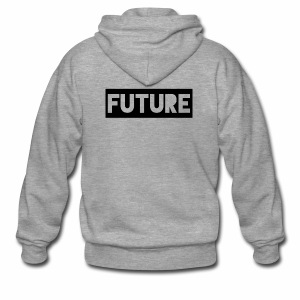 Future Clothing - Text Rectangle (Black) - Men's Premium Hooded Jacket