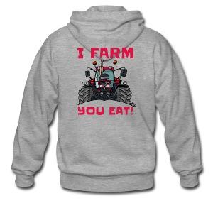 I farm you eat case - Mannenjack Premium met capuchon