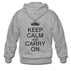 Keep calm - Männer Premium Kapuzenjacke
