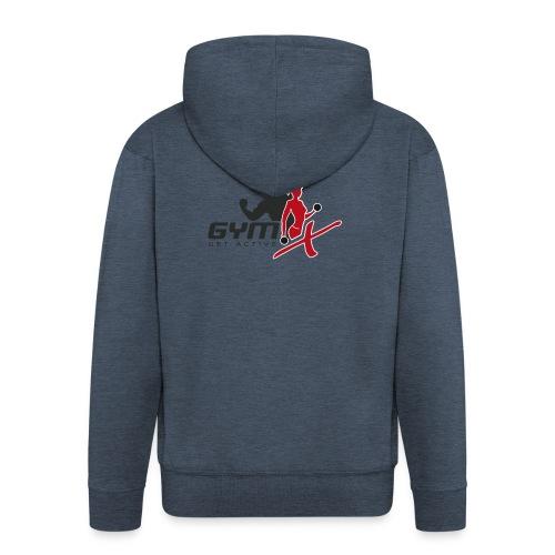 GYM-X.logo (für helle Kleidung) - Männer Premium Kapuzenjacke