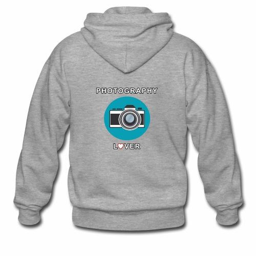 Photography Lover - Felpa con zip Premium da uomo