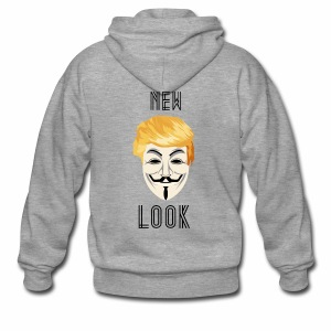 New Look Transparent /Anonymous Trump - Felpa con zip Premium da uomo