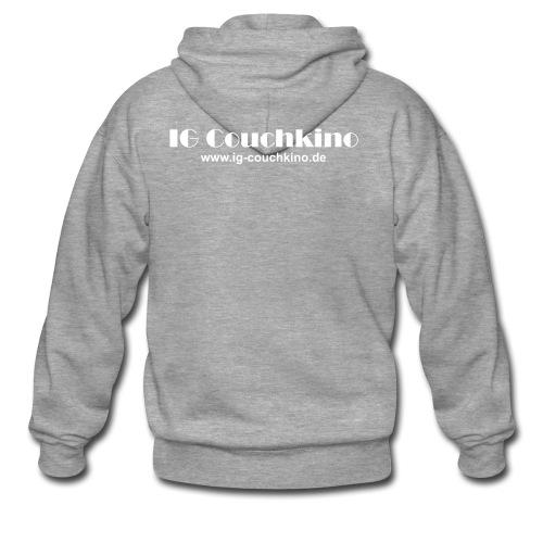 Schriftzug URL white - Männer Premium Kapuzenjacke