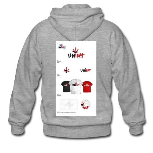 unikat_1 - Rozpinana bluza męska z kapturem Premium