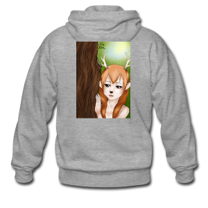 Womens tank: Deer-girl Design by Tina Ditte - Men's Premium Hooded Jacket