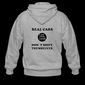 REAL CARS DON´T SHIFT THEMSELVES - Männer Premium Kapuzenjacke