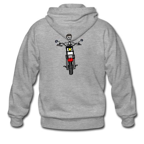 calavera moto - Chaqueta con capucha premium hombre