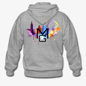 London Watercolour MG - Men's Premium Hooded Jacket