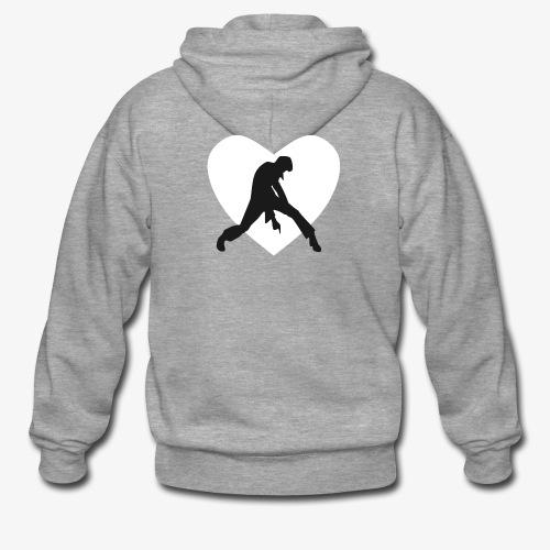 coeur blanc rocker noir - Veste à capuche Premium Homme