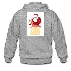 Kerstman op speelgoed rendier - Mannenjack Premium met capuchon