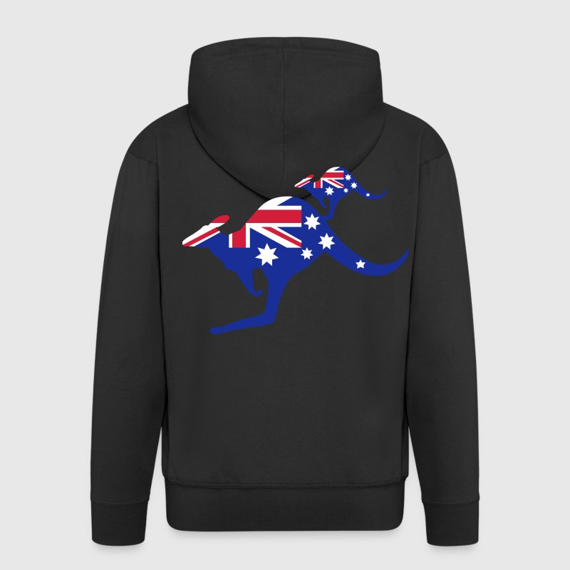 Australian Kangaroo Flag - Chaqueta con capucha premium hombre