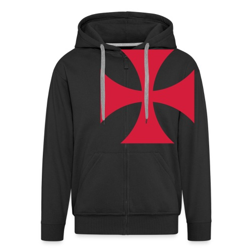 The Templar Cross Shirt - Männer Premium Kapuzenjacke