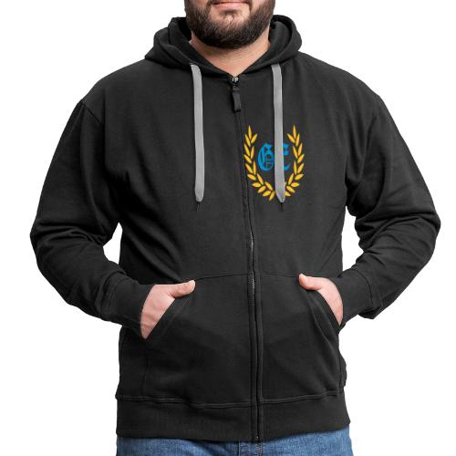GE logo - Männer Premium Kapuzenjacke