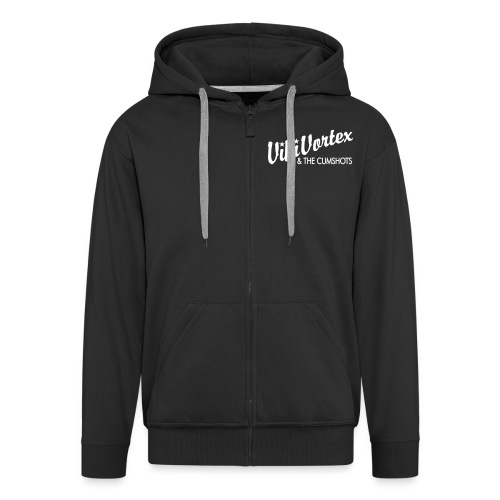 vikivortexstartextonly - Men's Premium Hooded Jacket