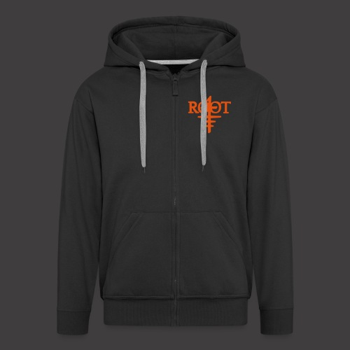 root4 logo weiss - Männer Premium Kapuzenjacke