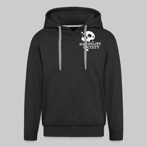 bs logo skull schrift klein - Männer Premium Kapuzenjacke