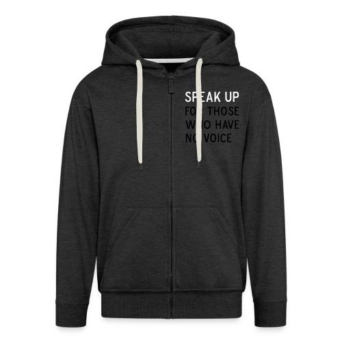 front Speak Up - Men's Premium Hooded Jacket
