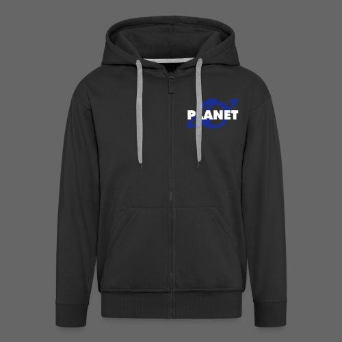 planet logo - Männer Premium Kapuzenjacke