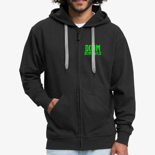 doomdemoteksti - Men's Premium Hooded Jacket