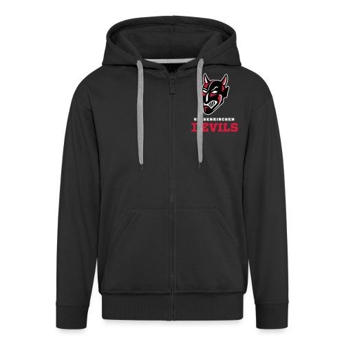 Kleines Logo schwarzer Hintergrund - Männer Premium Kapuzenjacke