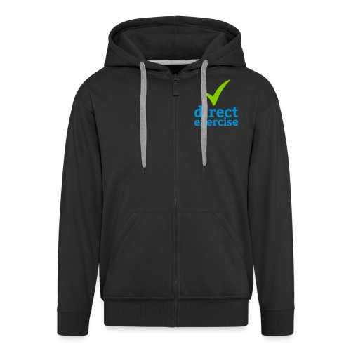 Direct Exercise Logo - Men's Premium Hooded Jacket