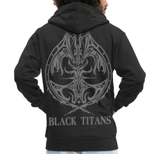 Black Titans - Men's Premium Hooded Jacket