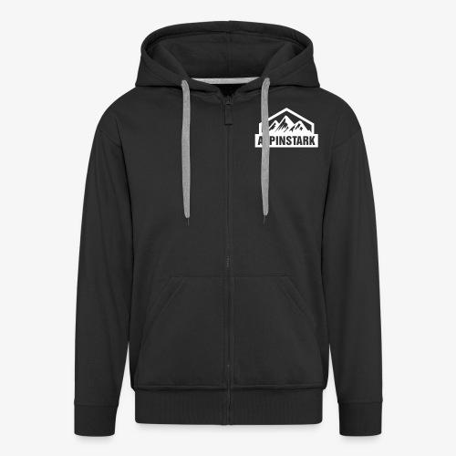 Alpinstark Half Logo klei - Männer Premium Kapuzenjacke
