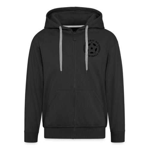 Spirit of Football Logo - Men's Premium Hooded Jacket