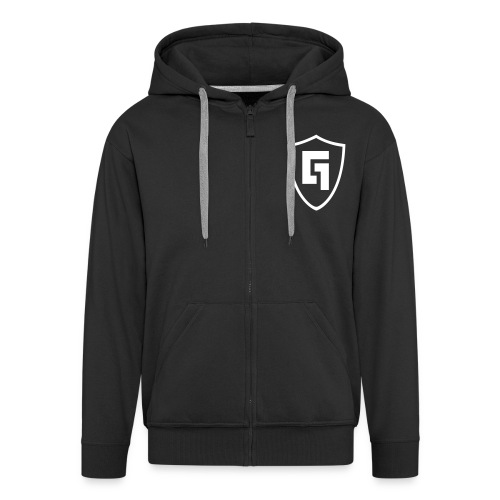 Gabber FM Logo - Men's Premium Hooded Jacket