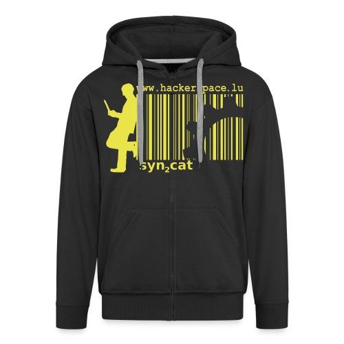 syn2cat hackerspace - Men's Premium Hooded Jacket