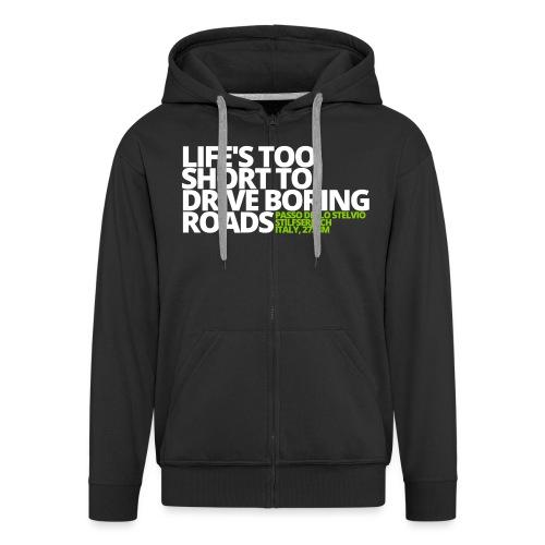 LIFE'S TOO SHORT - Felpa con zip Premium da uomo