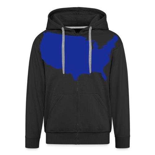 usa map - Men's Premium Hooded Jacket