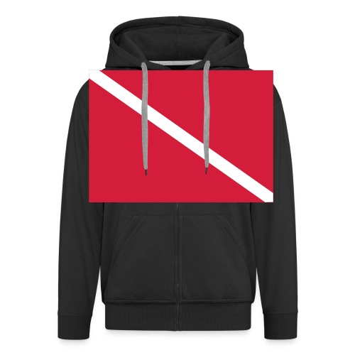 Diver Flag - Men's Premium Hooded Jacket